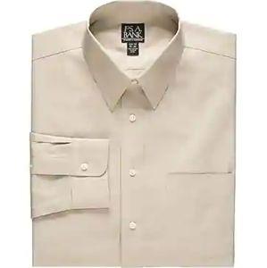 Jos A Bank Dress Shirt Cream Size 18.5 Neck